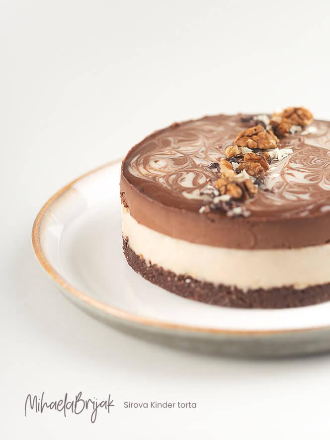 Sirova Kinder torta