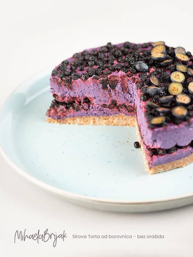 Sirova Torta od borovnica - bez orašida