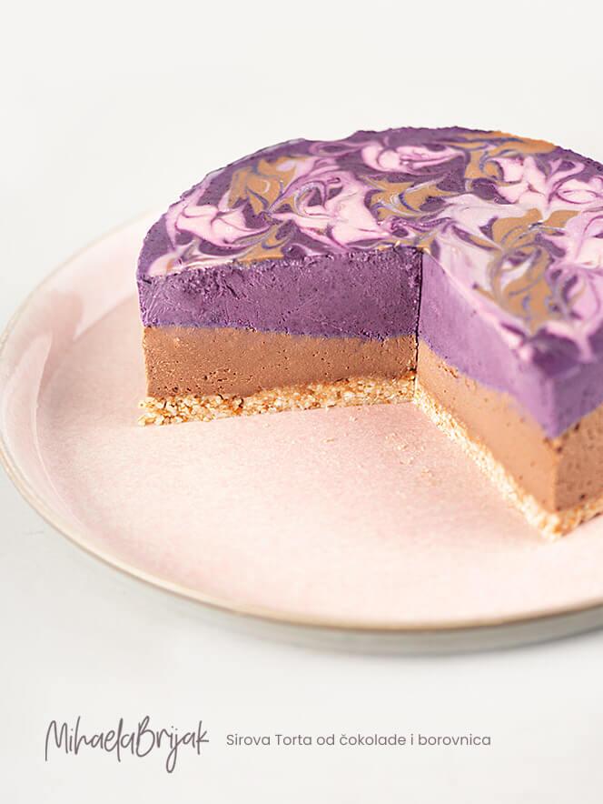Sirova Torta od čokolade i borovnica