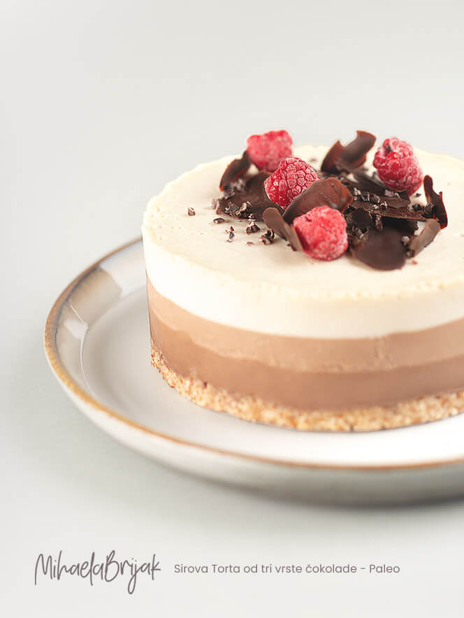 Sirova Torta od tri vrste čokolade - Paleo